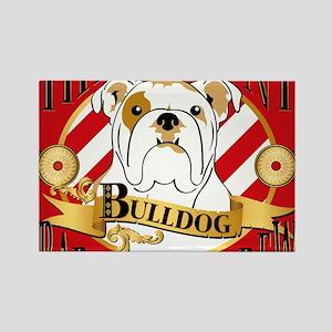 Brawny Bulldog Barbershop Brew Rectangle Magnet