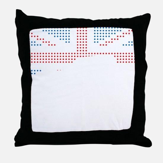 Austin-Healey Frogeye Sprite mk1 Unio Throw Pillow