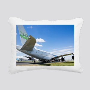Airbus A380 Rectangular Canvas Pillow