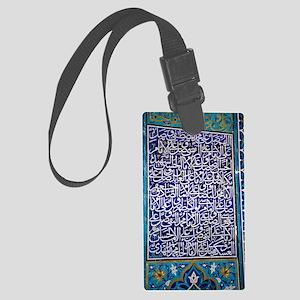 Calligraphic mosaic, Iran Large Luggage Tag