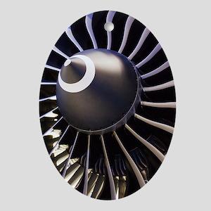 Aeroplane engine Oval Ornament