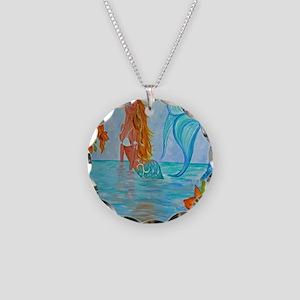 The Wisdom Seeker Mermaid  b Necklace Circle Charm