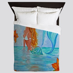 The Wisdom Seeker Mermaid  by Alecia Queen Duvet