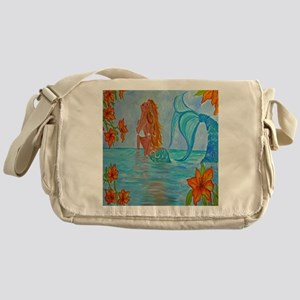 The Wisdom Seeker Mermaid  by Alecia Messenger Bag