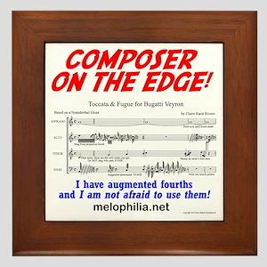 composer on the edge Framed Tile