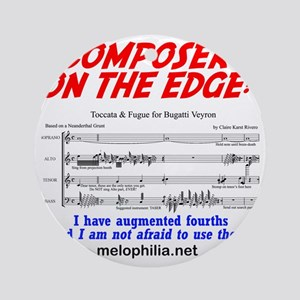 composer on the edge Round Ornament
