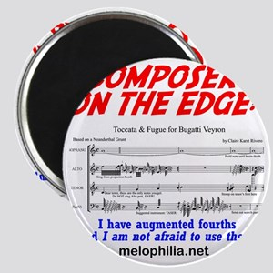 composer on the edge Magnet