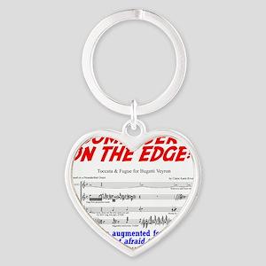 composer on the edge Heart Keychain
