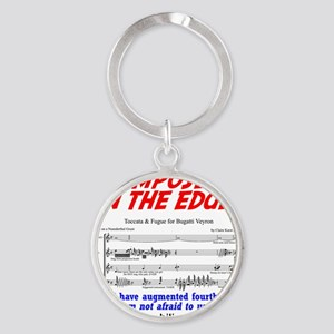 composer on the edge Round Keychain