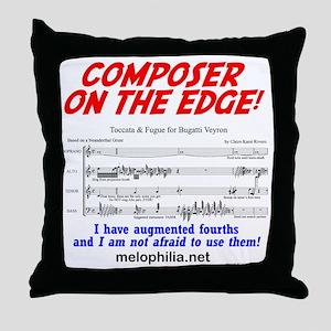 composer on the edge Throw Pillow