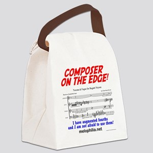 composer on the edge Canvas Lunch Bag