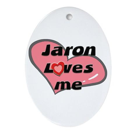 jaron loves me Oval Ornament