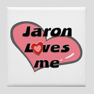 jaron loves me  Tile Coaster
