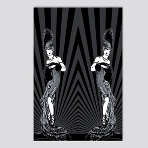 Art Deco Corset Glamour Postcards (Package of 8)