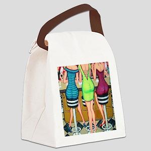 Happy Hour - Women Wine Flip Flop Canvas Lunch Bag