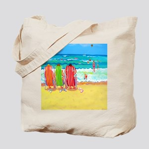 Front Row Seats Beach Ocean Flip Flops Tote Bag