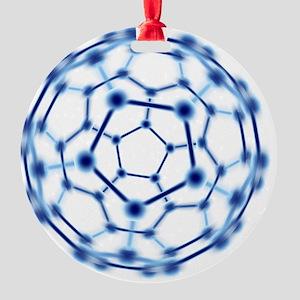 Buckminsterfullerene Round Ornament