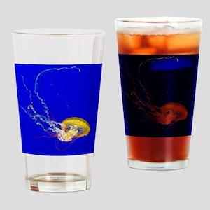 Brown jellyfish Drinking Glass