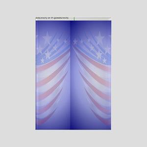 Flip Flop American Flag Rectangle Magnet