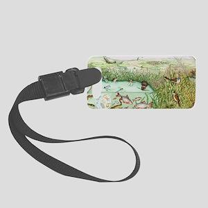 British reedbed wildlife Small Luggage Tag