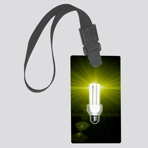 Bright idea, conceptual artwork Large Luggage Tag