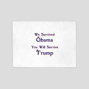We Survived Obama 5'x7'Area Rug