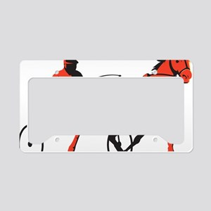 harness horse cart racing ret License Plate Holder