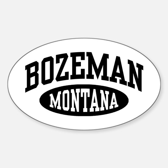 Bozeman Montana Sticker (Oval)