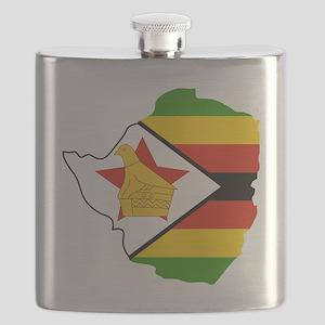 Zimbabwe Outline Flask