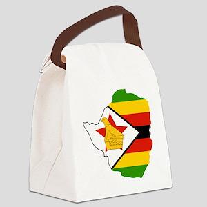 Zimbabwe Outline Canvas Lunch Bag