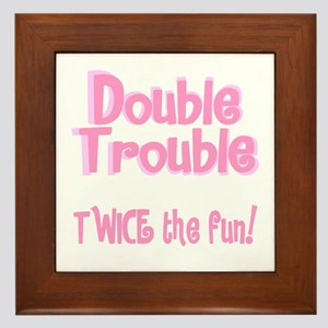TwinBaby Double Trouble Framed Tile