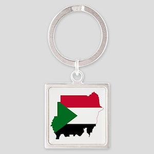 Sudan Square Keychain