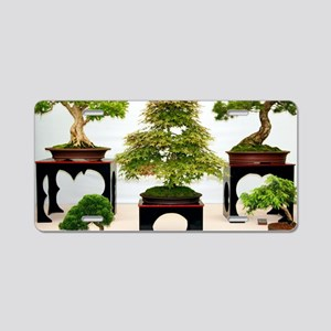 Bonsai trees Aluminum License Plate