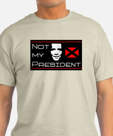 """Obama: Not My President!"" Color T-Shirt"