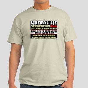 """""""Liberal Lie #666"""" Color T-Shirt"""