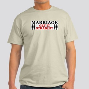 """Marriage: Get It Straight!"" Color T-Shirt"
