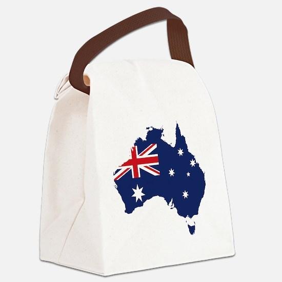 Flag Map of Australia Canvas Lunch Bag