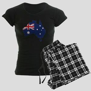 Flag Map of Australia Women's Dark Pajamas