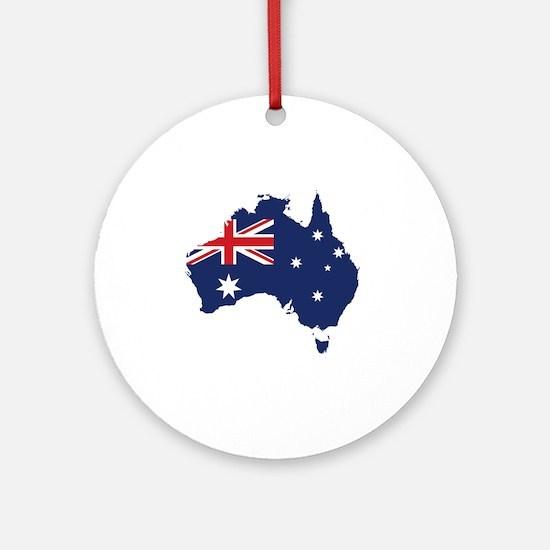 Flag Map of Australia Round Ornament