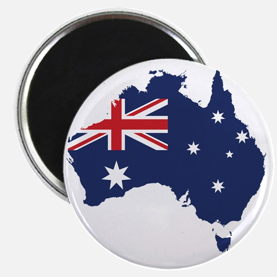 Flag Map of Australia Magnet