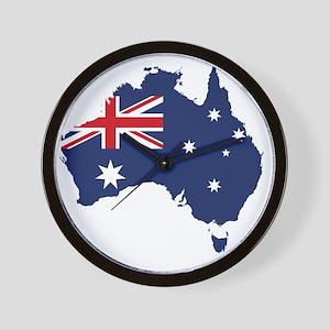 Australia wall clocks cafepress flag map of australia wall clock gumiabroncs Image collections