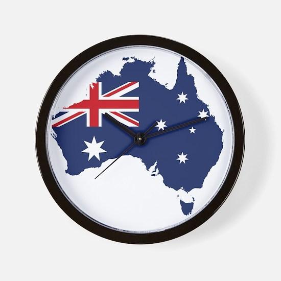 Flag Map of Australia Wall Clock