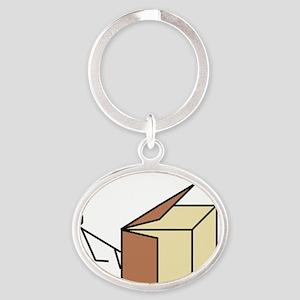 Basenji Nosework Oval Keychain
