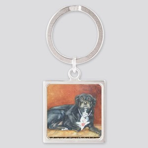 Old and Faithful Love Square Keychain