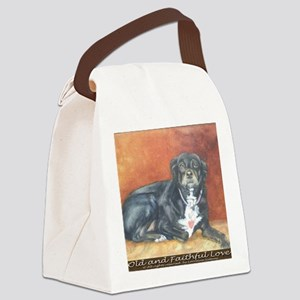 Old and Faithful Love Canvas Lunch Bag