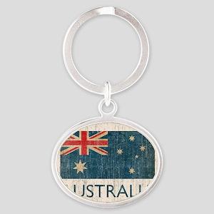 VintageAustralia Oval Keychain