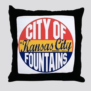 Kansas City Vintage Throw Pillow