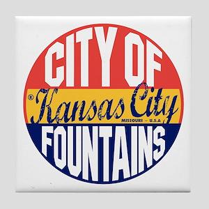 Kansas City Vintage Tile Coaster