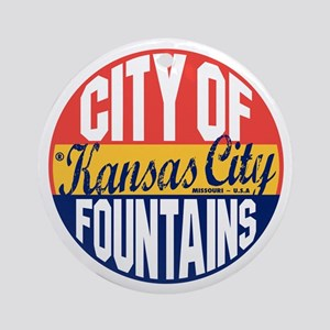 Kansas City Vintage Round Ornament