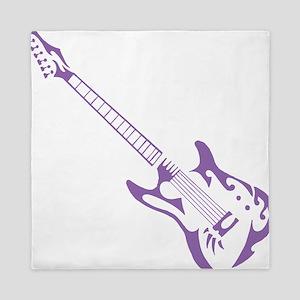 Purple Tribal Guitar Queen Duvet